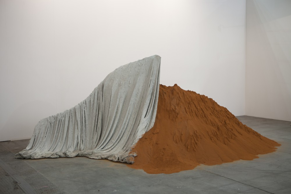 Thiago Rocha Pitta, <i>Untitled</i>, 2013, dirty over cement on canvas, variable dimensions